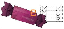 Как сделать подарочную коробку:  конфета из картона.